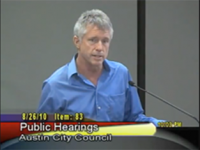 Austin's Activist Brian Rodgers testifies against water rate hikes.