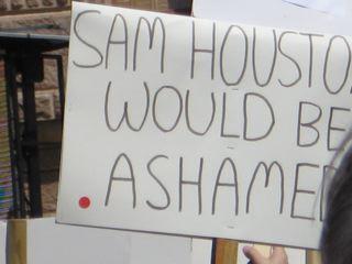 Sam Houston was invoked