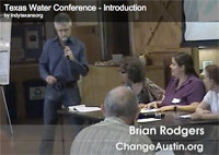 Brian Rodgers presents at the Texas Water Conference, 2011.
