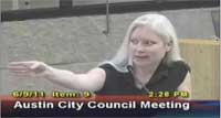 Susan Moffet Speaks Out Against Formula1 in Austin, TX