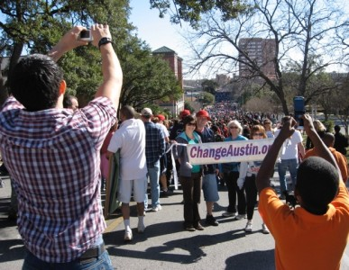 ChangeAustin.org at the 2009 MLK March